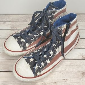 Converse American Flag High Top Sneakers Zip M5/W7